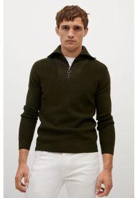 Sweter Mango Man z długim rękawem, casualowy, na co dzień, krótki