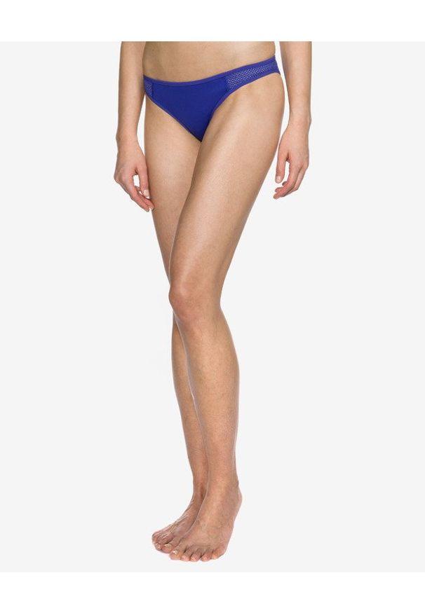 Niebieski strój kąpielowy dwuczęściowy Stella McCartney w kolorowe wzory
