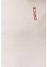 Hugo - Top (2-pack). Okazja: na co dzień. Kolor: biały. Materiał: dzianina. Styl: casual