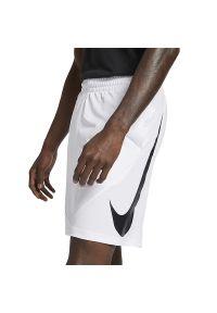 Białe spodenki sportowe Nike z aplikacjami, do koszykówki, Dri-Fit (Nike)