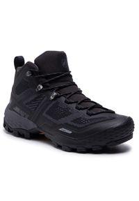 Czarne buty trekkingowe Mammut Gore-Tex, trekkingowe