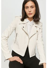 Guess - Ramoneska. Kolor: biały. Materiał: materiał. Wzór: gładki. Styl: klasyczny