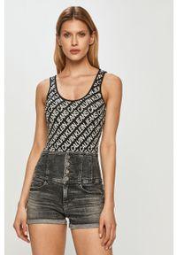 Czarny top Calvin Klein Jeans na co dzień, casualowy
