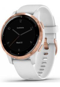 GARMIN - Zegarek sportowy Garmin Vivoactive 4S Biały (010-02172-23). Kolor: biały. Styl: sportowy