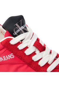 Czerwone półbuty casual Calvin Klein Jeans z cholewką, na co dzień