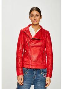 Czerwona kurtka Desigual gładkie, bez kaptura, casualowa, na co dzień