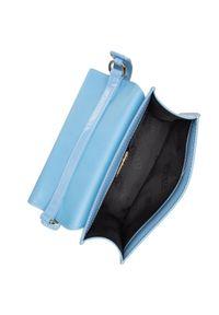 Niebieska torebka klasyczna Versace Jeans skórzana