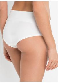 """Figi ciążowe """"panty"""" (3 szt.), bawełna organiczna bonprix czarny + czarny + biały. Kolekcja: moda ciążowa. Kolor: czarny. Materiał: bawełna"""