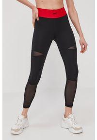Czarne legginsy Reebok Classic z podwyższonym stanem, gładkie