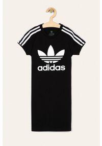 Czarna sukienka adidas Originals casualowa, prosta
