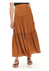 Brązowa spódnica TOP SECRET na co dzień, długa