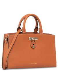 Brązowa torebka klasyczna Calvin Klein