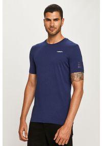 Niebieski t-shirt G-Star RAW z okrągłym kołnierzem