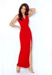 Czerwona sukienka wieczorowa IVON