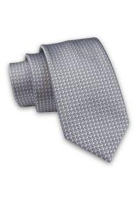 Alties - Szary Elegancki, Męski Krawat -ALTIES- 7cm, Stylowy, Klasyczny, Jednokolorowy, w Drobny Wzór. Kolor: szary. Materiał: tkanina. Styl: klasyczny, elegancki