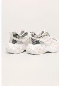 Białe buty sportowe ANSWEAR z okrągłym noskiem, na sznurówki