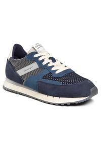 Niebieskie sneakersy GANT na co dzień, z cholewką
