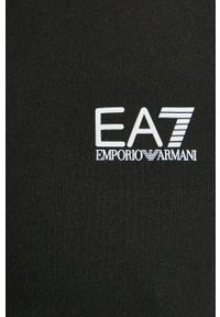 EA7 Emporio Armani - Bluza. Okazja: na co dzień. Kolor: czarny. Wzór: nadruk. Styl: casual