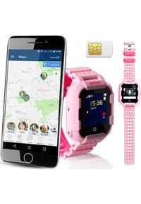 Różowy zegarek CALMEAN sportowy, smartwatch