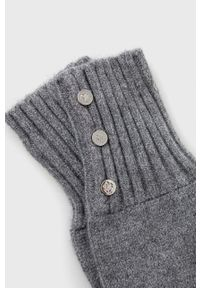 Lauren Ralph Lauren - Rękawiczki. Kolor: szary
