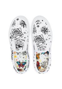Białe buty sportowe Vans bez zapięcia, z cholewką