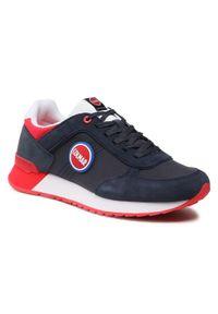 Colmar - Sneakersy COLMAR - Travis Boost 134 Navy/Red. Okazja: na co dzień. Kolor: niebieski. Materiał: zamsz, materiał, skóra. Szerokość cholewki: normalna. Styl: casual, sportowy