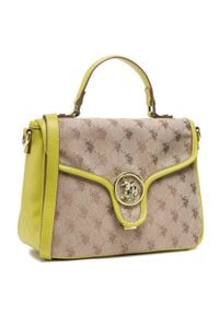 U.S. Polo Assn - Torebka U.S. POLO ASSN. - Lady Lake Handle Flap Bag BEUKG5227WJP300 Jacquard/Yellow. Kolor: wielokolorowy, zielony, brązowy. Materiał: skórzane. Styl: klasyczny
