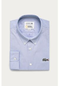 Niebieska koszula Lacoste na co dzień, casualowa