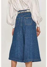 Niebieskie jeansy loose fit Liu Jo gładkie