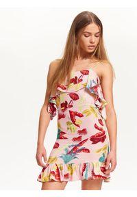 Różowa sukienka TROLL na lato, casualowa, na ramiączkach