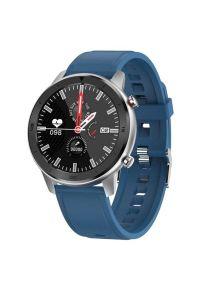 Niebieski zegarek GARETT smartwatch, wakacyjny