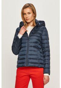 Niebieska kurtka Calvin Klein z kapturem, casualowa, na co dzień