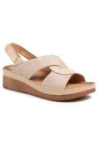 Beżowe sandały Waldi