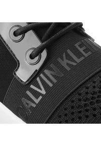 Czarne buty sportowe Calvin Klein Jeans z cholewką, na płaskiej podeszwie