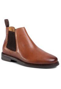 Brązowe buty zimowe Salamander z cholewką, eleganckie