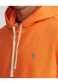 Ralph Lauren - RALPH LAUREN - Pomarańczowa bluza z kapturem Cabin. Okazja: na co dzień. Typ kołnierza: kaptur. Kolor: pomarańczowy. Materiał: tkanina. Wzór: haft. Sezon: lato. Styl: casual, klasyczny