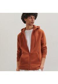 Reserved - Dresowa bluza z kapturem - Brązowy. Typ kołnierza: kaptur. Kolor: brązowy. Materiał: dresówka