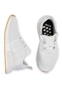 Białe sneakersy Adidas Adidas NMD, z cholewką
