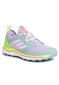 Fioletowe buty do biegania Adidas z cholewką, Adidas Terrex, na co dzień
