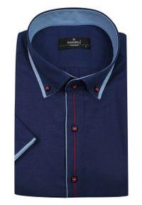 Elegancka koszula Ravanelli na spotkanie biznesowe, krótka