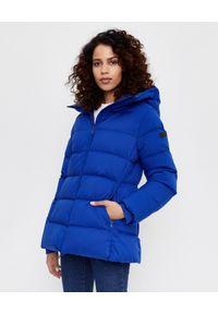 Hetrego - HETREGO - Niebieska kurtka puchowa Beryl. Typ kołnierza: kaptur. Kolor: niebieski. Materiał: puch. Sezon: zima