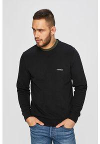 Czarna bluza nierozpinana Calvin Klein bez kaptura, casualowa, na co dzień