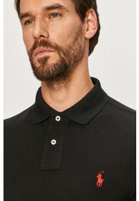 Czarna koszulka z długim rękawem Polo Ralph Lauren na co dzień, polo, casualowa
