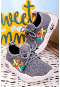 Casu - szare buty sportowe sznurowane casu 204/23m. Kolor: szary