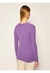 Fioletowy sweter klasyczny Polo Ralph Lauren polo