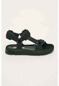 Czarne sandały Camper na rzepy