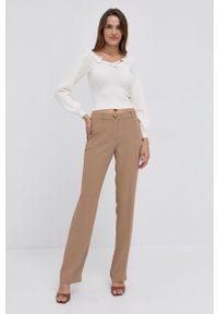 Silvian Heach - Sweter. Kolor: biały. Materiał: dzianina. Długość rękawa: długi rękaw. Długość: długie