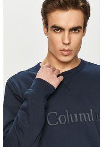 Niebieska bluza nierozpinana columbia w jednolite wzory, na co dzień, casualowa