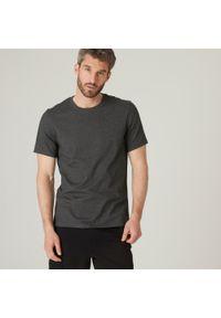 NYAMBA - Koszulka krótki rękaw fitness. Kolor: szary. Materiał: poliester, elastan, bawełna, materiał. Długość rękawa: krótki rękaw. Długość: krótkie. Sport: fitness #1
