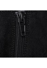 Czarne botki Jenny Fairy na średnim obcasie, na obcasie